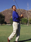 Male Golfer in Action Photographic Print by Chris Trotman