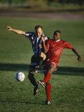 Soccer Players Fighting for the Ball Fotografisk trykk