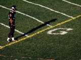 Football Player Standing at the Goal Line Photographic Print