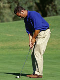Male Golfer Putting Photographic Print by Chris Trotman