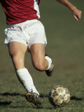 Detail of Male Soccer Player with the Ball Reproduction photographique