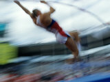Pole Vaulter in Action Photographic Print by Steven Sutton