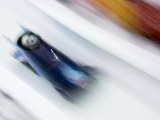Two Man Bobsled in Action, Torino, Italy Photographic Print by Chris Trotman