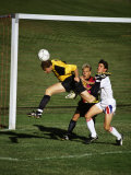 Soccer Players in Action Photographic Print