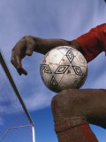 Detail of Soccer Player and Ball Photographic Print