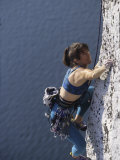 Woman Rock Climbing Photographic Print