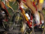 Detail of Blurred Cycling Action Fotografisk tryk af Chris Trotman