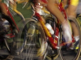Detail of Blurred Cycling Action Fotoprint van Chris Trotman