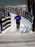 Woman Out for a Fitness Run Photographic Print