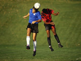 Soccer Players in Action Fotografie-Druck