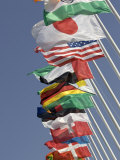 Flags of the Nations, Athens, Greece Photographic Print by Paul Sutton