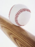 Baseball Bat and Ball Photographic Print