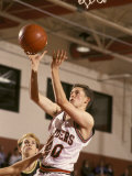 High School Boys Basketball Player Shooting Photographic Print