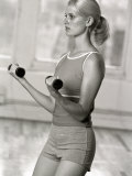 Women Working Out with Hand Wieghts, New York, New York, USA Reproduction photographique par Chris Trotman