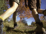 Detail of Feet of Couple Hiking, Woodstock, New York, USA Photographic Print by Chris Cole