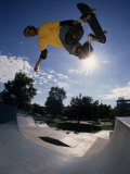 Skateboarder in Action on the Vert Photographic Print