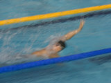 Action of Male Backstroke Swimmer, Athens, Greece Photographic Print by Paul Sutton
