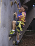 Male Child Wall Climbing Indoors Photographic Print
