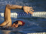 Swimmer in a Race Photographic Print