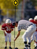 Referee Measuring for a First Down During a During a Pee Wee Football Game, Denver, Colorado, USA Photographic Print