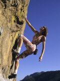 Female Rock Climber Photographic Print