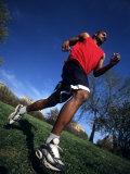 Male Runner Training, New York, New York, USA Photographic Print