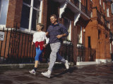 Mature Couple Out on a Fitness Run Photographic Print by Chris Cole