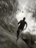 African American Male on a Training Run, New York, New York, USA Papier Photo par Chris Trotman