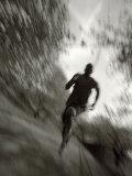 African American Male on a Training Run, New York, New York, USA Fotografisk tryk af Chris Trotman