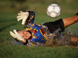 Soccer Goalie in Action Reproduction photographique