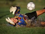 Soccer Goalie in Action Reprodukcja zdjęcia