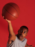 Male Basketball Player Goes Up for a Shot, New York, New York, USA Photographic Print by Paul Sutton