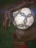 Detail of Soccer Playerand Ball Photographic Print