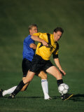 Male Soccer Players in Action Photographic Print