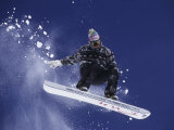Snowboarder Flying Throught the Air, USA Photographic Print