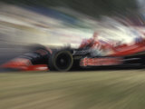 Auto Racing Action Photographic Print