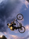 Bmx Cyclist Flys over the Vert Photographic Print