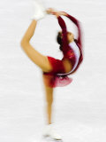 Blurred Action of Woman Figure Skater, Torino, Italy Photographic Print by Chris Trotman