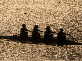 Silhouette of Women's Fours Rowing Team, Atlanta, Georgia, USA Photographic Print