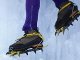 Detail of Ice Climbing Boots in Action Photographic Print by Chris Trotman