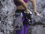 Close Up of Rock Climbing Equipment on a Female Climber, New York, USA Photographic Print by Paul Sutton