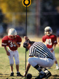 Referee Measuring for a First Down During a During a Pee Wee Football Photographic Print