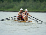 Men's Pairs Rowing Team in Action, USA Photographic Print
