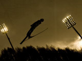 Ski Jumper in Action, Torino, Italy Photographic Print by Chris Trotman