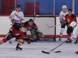 Ice Hockey Game Action Photographie
