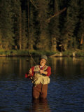 Women Fly Fishing Photographic Print