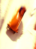 Blurred Action of 2 Man Bobsled Team, Torino, Italy Photographic Print by Chris Trotman