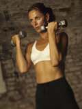 Women Working Out with Hand Wieghts, New York, New York, USA Photographic Print by Paul Sutton