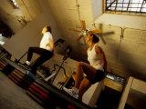 Women Exercising in Step Aerobics Class, New York, New York, USA Photographic Print