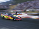 Drag Racing, Denver, Colorado, USA Photographic Print